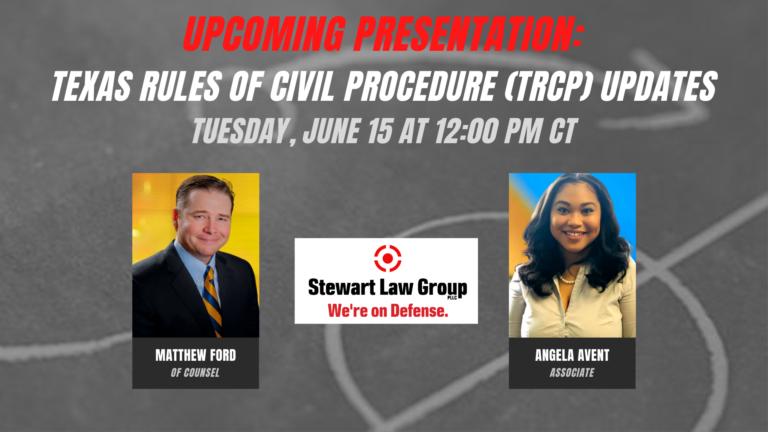 Texas Rules of Civil Procedure: 2021 Amendments